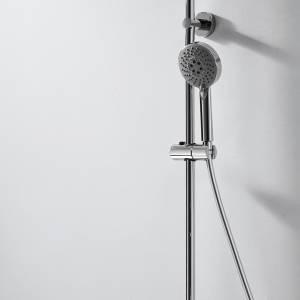 Душевая колонна с термостатическим смесителем для ванны Bravat Waterfall