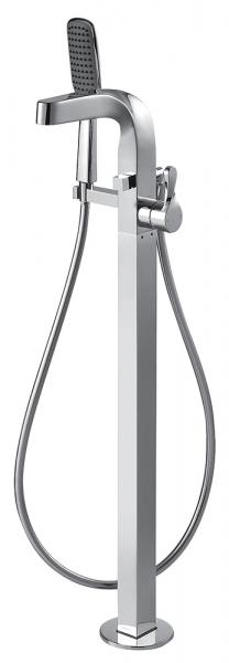 Отдельностоящий смеситель для ванны c коротким изливом Bravat Wave